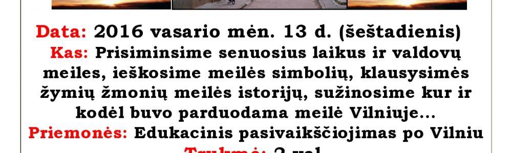 Šv. Valentino išdaigos Vilniuje