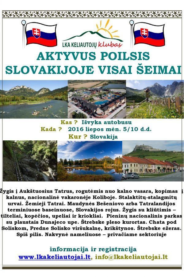 Aktyvus poilsis Slovakijoje