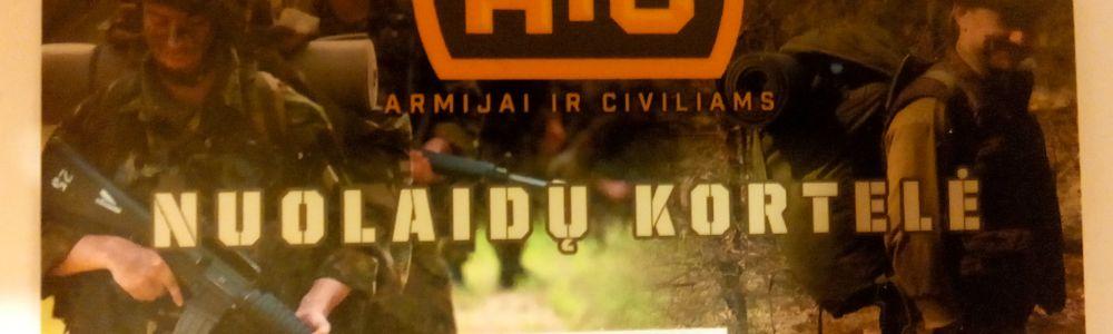 Armijai ir civiliams nuolaidų kortelė