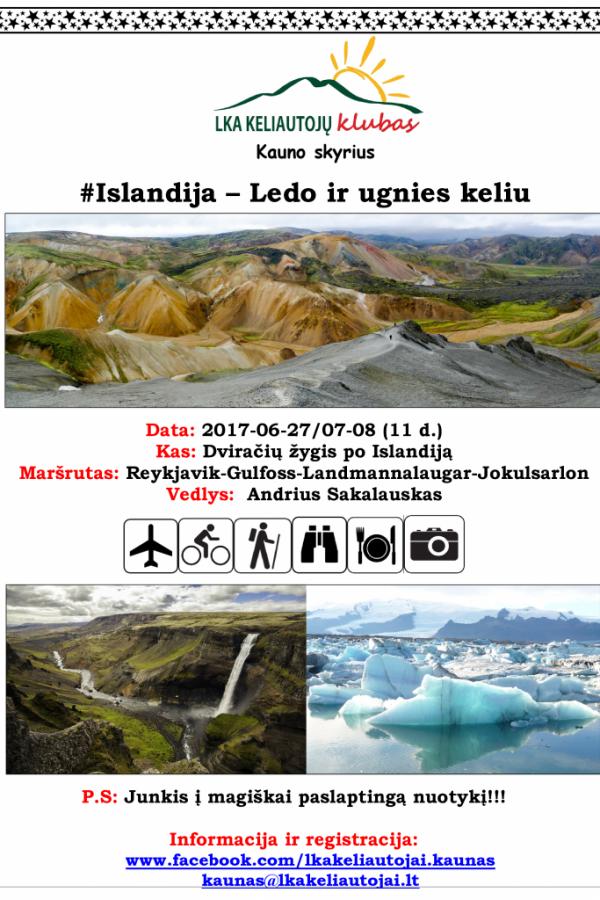 Islandija: Ledo ir ugnies keliu