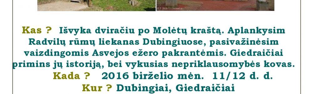 """""""Didikų keliais Molėtų rajone"""""""