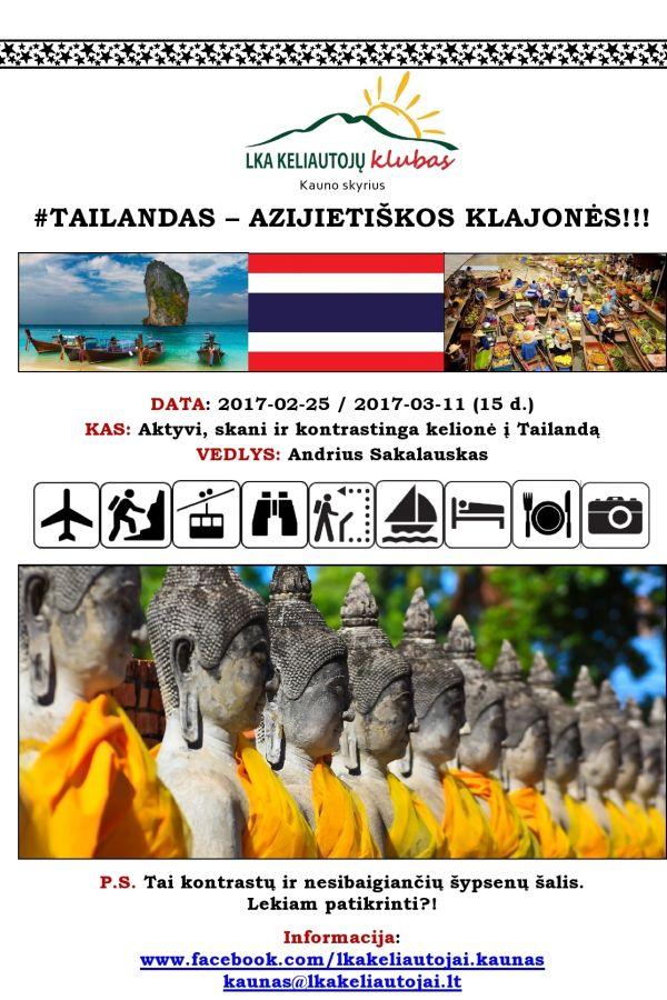 Tailandas - Azijietiškos Klajonės!