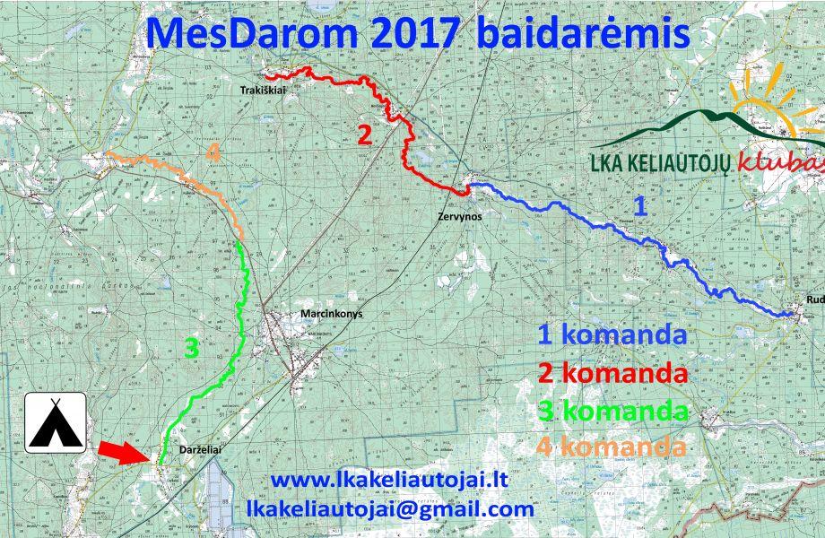 Jau ir Dzūkija - MesDarom2017 su baidarėmis