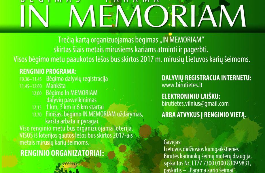 IN MEMORIAM: bėgimas - parama