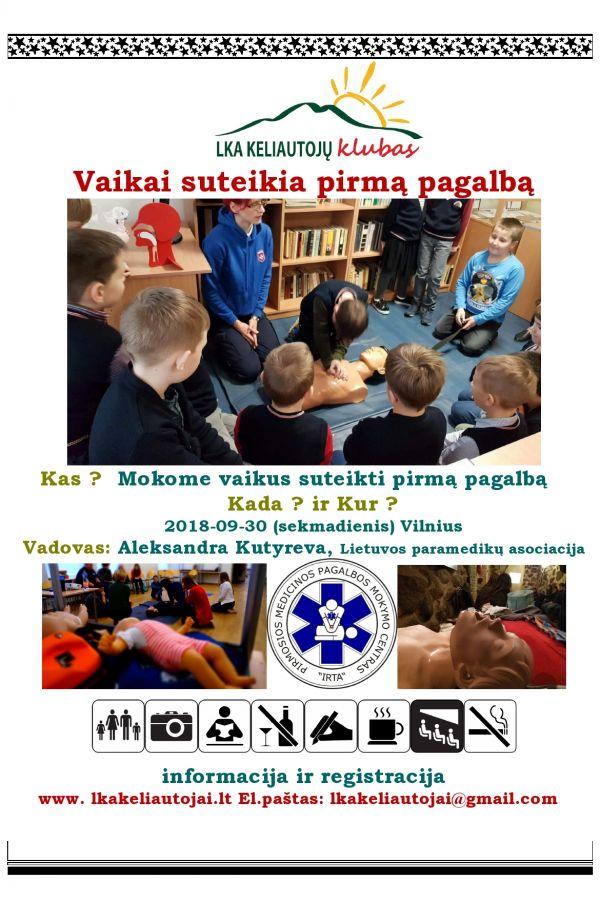 Pirmos medicininės pagalbos suteikimo kursas vaikams
