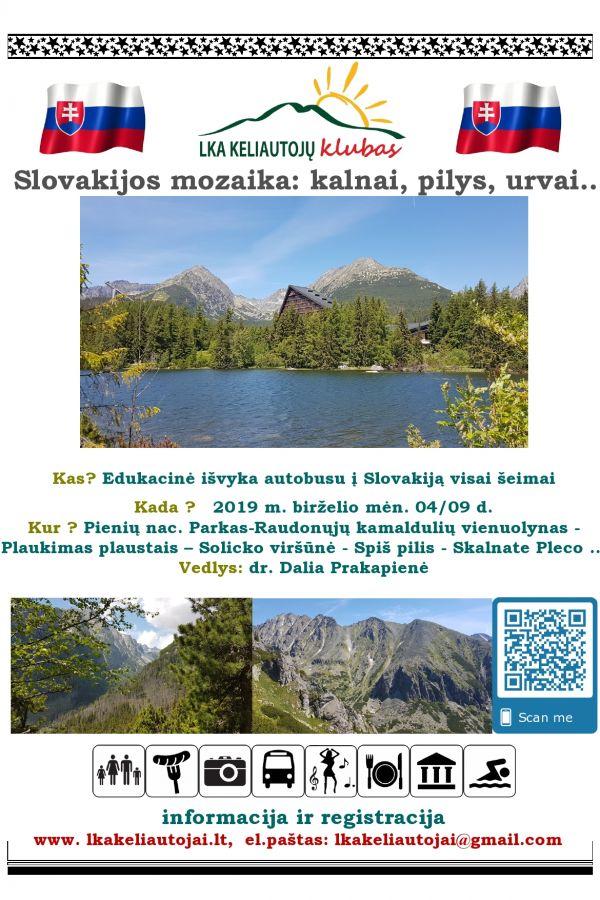 Slovakijos mozaika: kalnai, pilys, urvai...