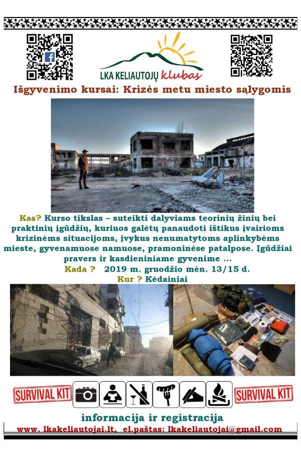 Išgyvenimo kursai: Krizės metu miesto sąlygomis
