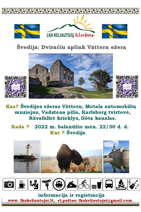 2022-04-22/30 Dviračiu aplink Vättern ežerą